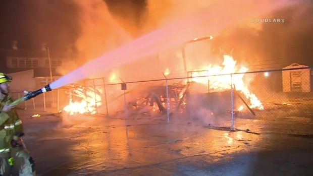 [LA] Watch: Fire Burns Historic Downey Buildings