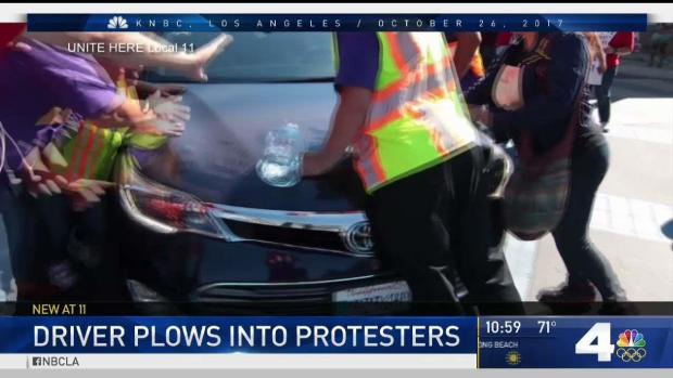 [LA] Driver Plows Through Protesters in Brea