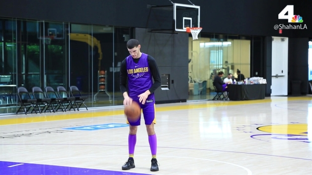 Lakers Practice Lonzo Ball Calf Injury Turnovers