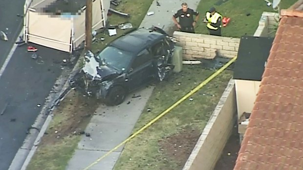 Images: Driver Dies in El Cajon Police Pursuit