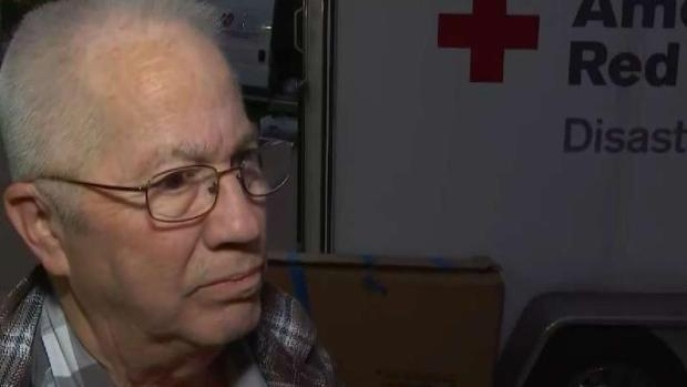 [LA] Evacuee Relieved to Find Shelter From Wildfire