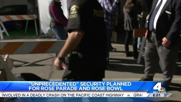 [LA] Extra Security at Annual Rose Parade Ahead of New Year's Day