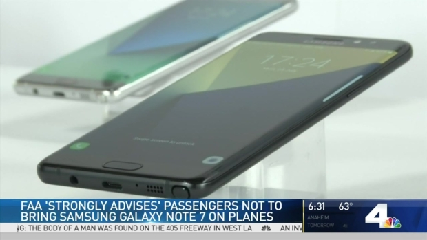 [LA] FAA Issues Warning About Samsung Phone