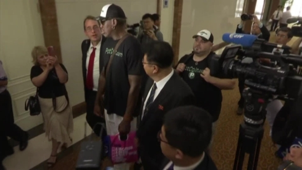 [NATL] Dennis Rodman Makes Trip Back to North Korea