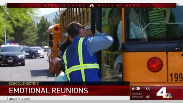 [LA] Family Members Reunite With Children Following School Shooting