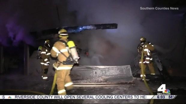 [LA] Fierce Garage Fire Kills Man in OC