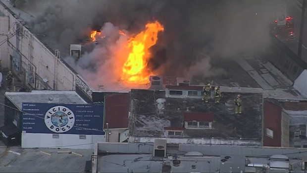 Fight Breaks Out During North Hollywood Business Fire