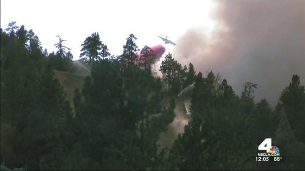 [LA] Fire Burns Near Snow Summit Resort
