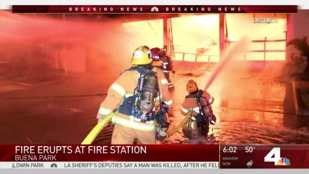 [LA-STRINGER] Fire Rips Through Buena Park Fire Station