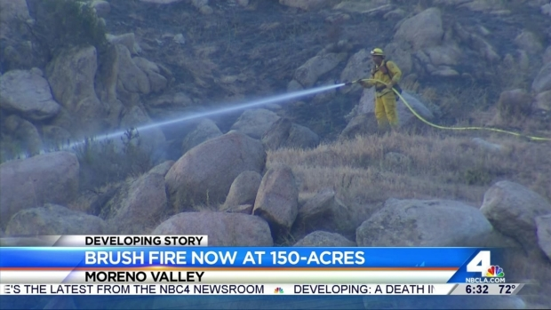 [LA] Firefighters Battling Moreno Valley Brush Fire