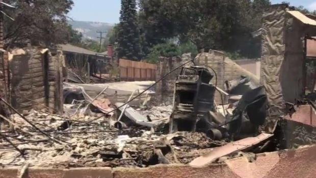 Firefighters Make Progress on 'Holiday Fire' in Goleta