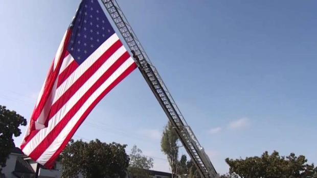 [LA] Firefighters Salute Fallen Costa Mesa Fire Captain