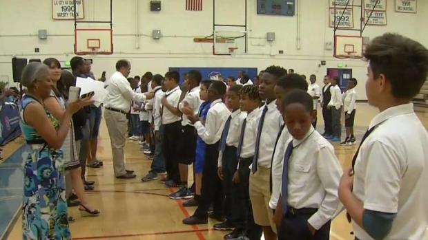 [LA] LAUSD's First All-Boys School Ready for First Day of Class