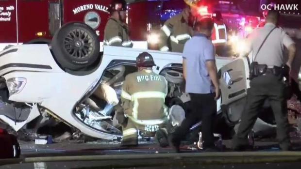 [LA- STRINGER] Four People Killed in 60 Freeway Crash