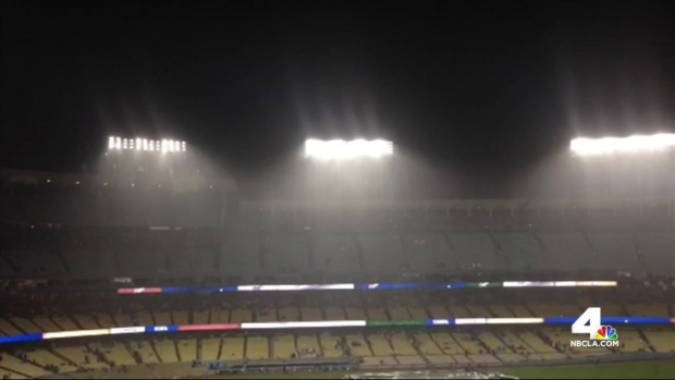 [LA] Rain Delays Dodger Game