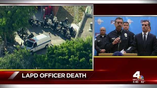 [LA] Garcetti, Beck Hold Press Conference on Officer's Death