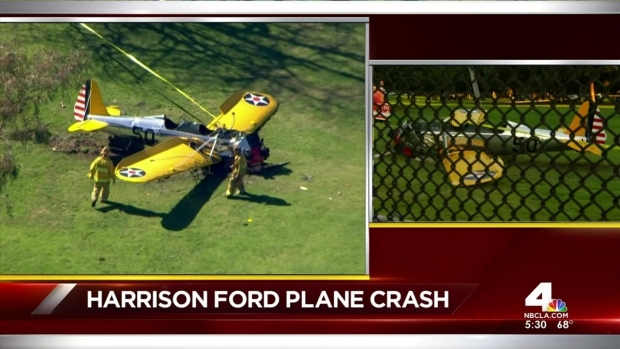 [LA] Harrison Ford's Plane Crash Lands on Golf Course