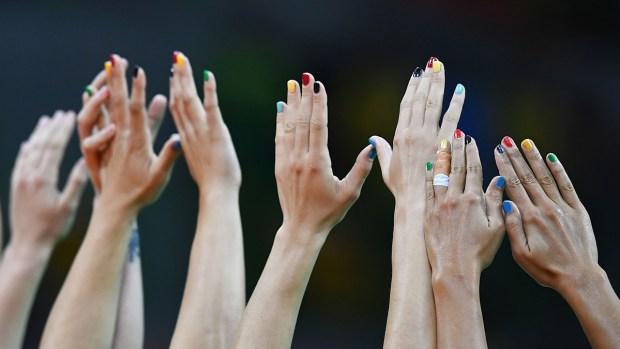 Patriotic Manicures Impress at Olympics
