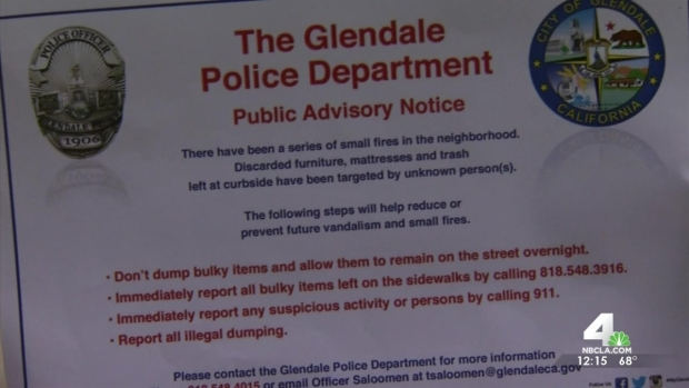 [LA] Police Asking for Public's Help to Find Arsonist in Glendale