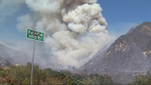 [LA] Glendora Fire Growing Near Azusa
