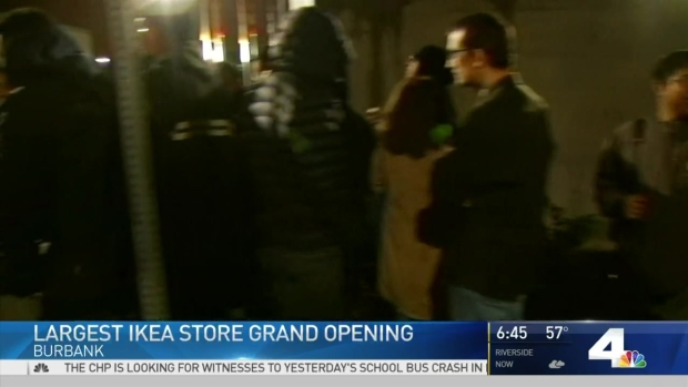 mega burbank ikea to open with giveaways nbc southern california. Black Bedroom Furniture Sets. Home Design Ideas