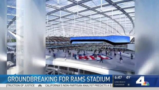 Kroenke, Goodell break ground on Rams' Inglewood stadium