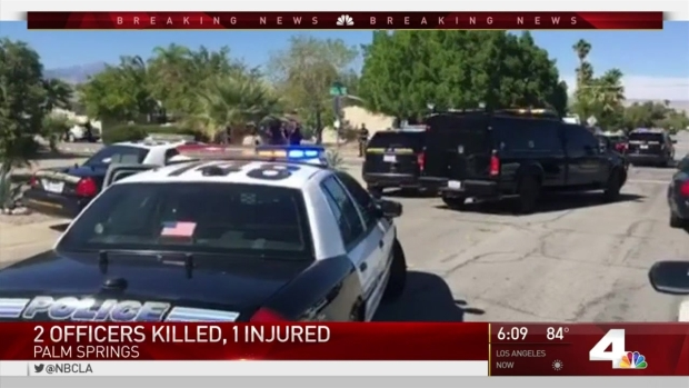 [LA] Gunman on the Loose After Killing 2 Officers, Injuring Another