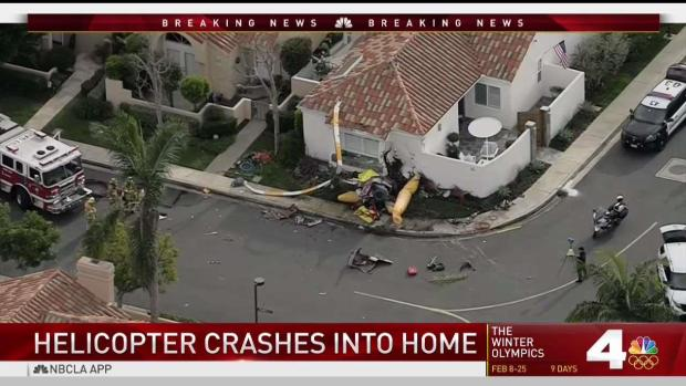 [LA] Helicopter Crashes Into Home