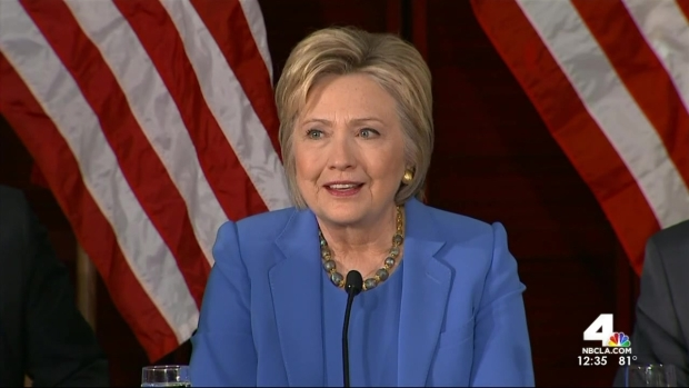 [LA] Hillary Clinton Addresses Counter-Terrorism During LA Visit
