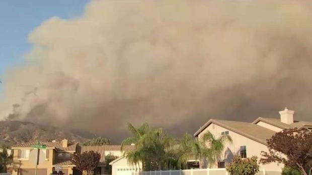 [LA] Holy Fire Rains Ash on Corona Neighborhood