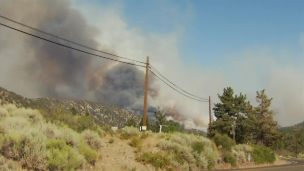 Homes Threatened by Blue Cut Fire
