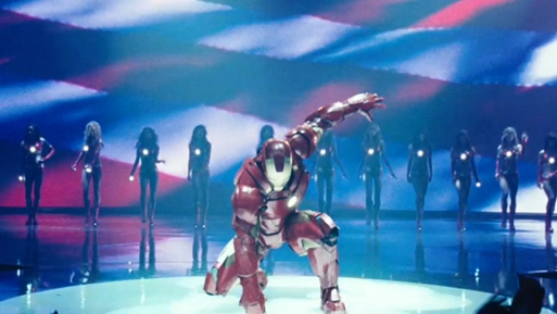 """[NATL] New """"Iron Man 2"""" Clip Begs the Question """"Why Wasn't This Filmed in 3D?"""""""