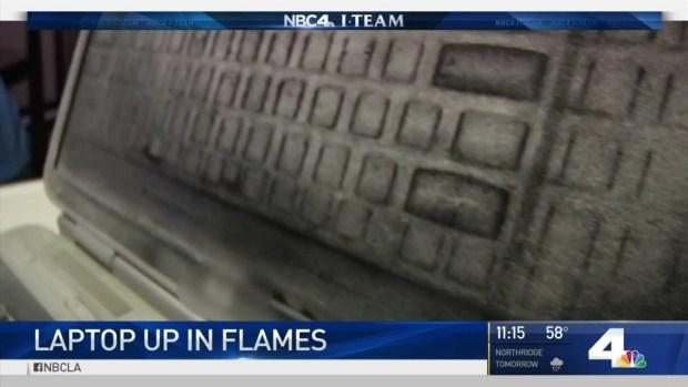 [LA] Teen's Laptop Bursts Into Flames Four Times
