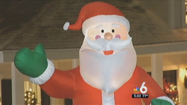 [MI] Inflatable Santa Slashed by Suspect, South Florida Couple Wonders Why