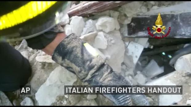 [NATL] Cat Rescued Weeks After Italy Quake