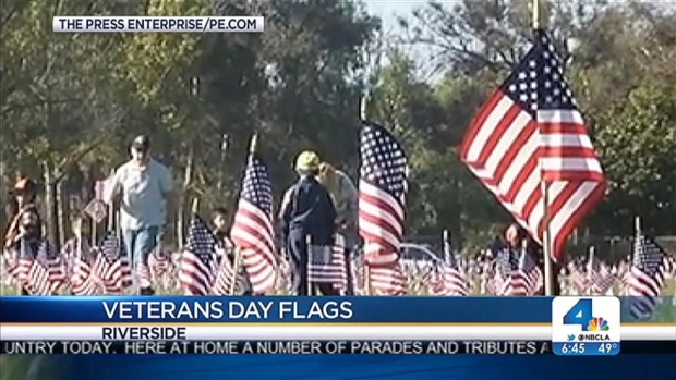 [LA] Volunteers Set 200,000 American Flags at Graves of Veterans