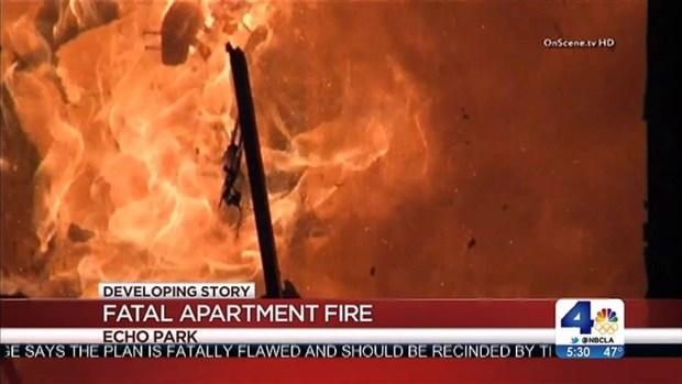 "[LA] Fatal Echo Park Apartment Fire Considered ""Suspicious"""
