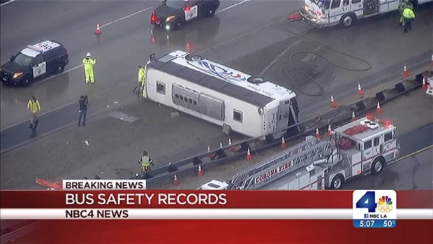 [LA] Tour Bus in Crash Had History of Safety Problems