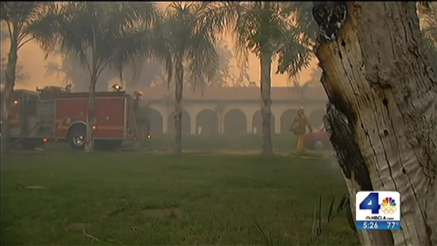 [LA] Glendora Mansion Spared as Guest House Burns