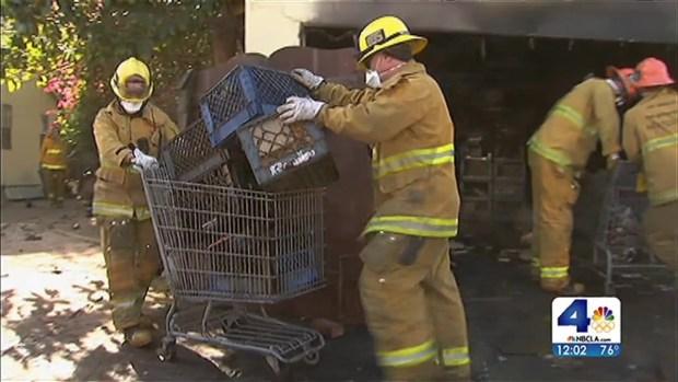 [LA] Garage in Fatal Fire Packed Floor to Ceiling