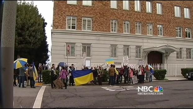 [BAY] Bay Area Ukrainians Urge U.S., World to Intervene With Russian Military's Move