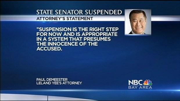 [BAY] Calif. Lawmakers Vote to Suspend Sen. Leland Yee, 2 Other Senators