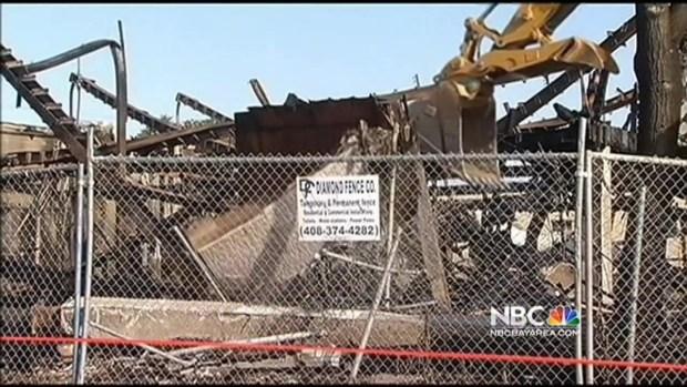 [BAY] Bulldozers Tear Down Old KNTV Studios Damaged In 5-Alarm Fire
