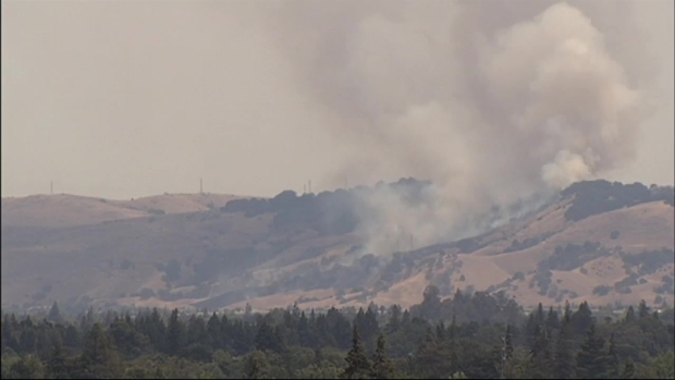 [BAY] Time-Lapse of San Jose Foothills Brush Fire