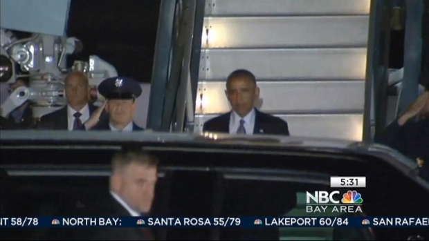 [BAY] President Obama Arrives in Bay Area for Fundraiser