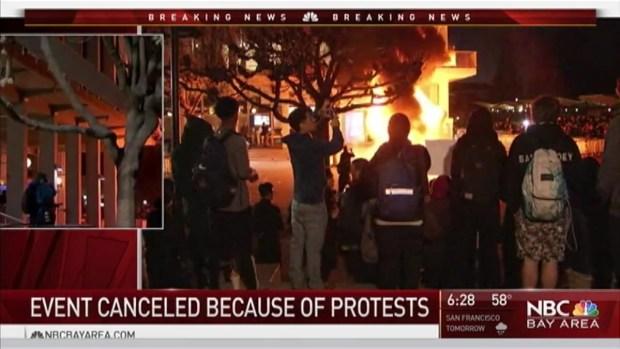 [NATL-BAY] Breitbart Editor's Speech Canceled Amid Protest at UC Berkeley