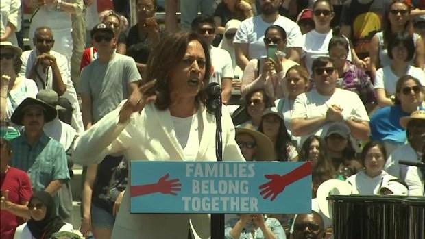Kamala Harris Speaks at LA Immigration Rally