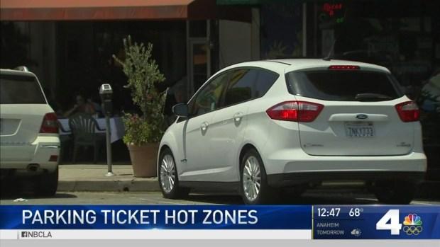 LA's Parking Ticket Hot Zones