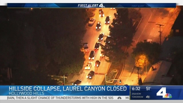 [LA] Laurel Canyon Remains Closed After Hillside Collapse