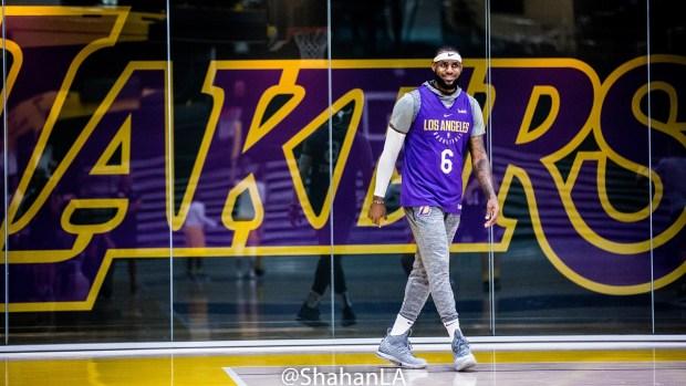 a027f50d1d0 LeBron James Captivates Crowd in LA Lakers' Debut - NBC Southern ...